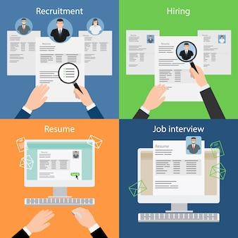 Einstellung und rekrutierung