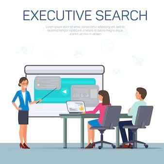 Einstellung von top executive template