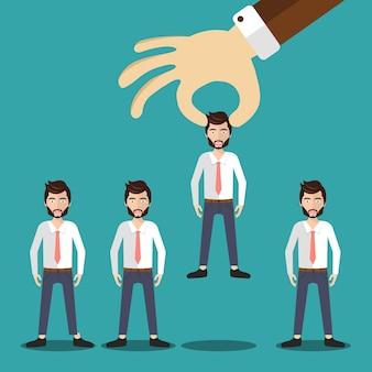 Einstellungs-und einstellungskonzept
