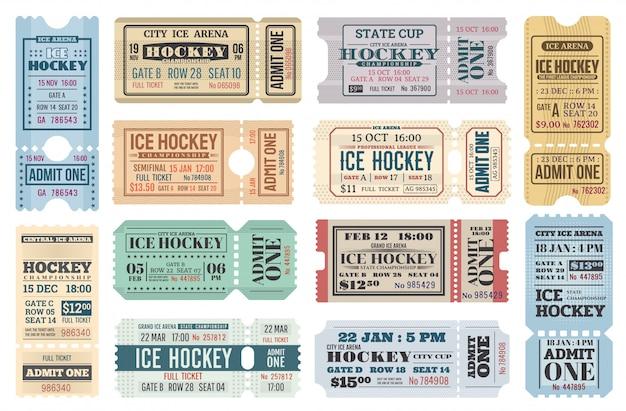 Eintrittskarten für eishockeysportspiele, zugeben