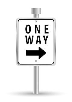 Einweg-straßenschild-werbedesign