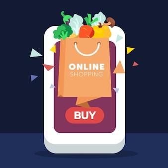 Einzelhandel online-shopping auf dem handy
