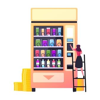 Einzelhandelstechnologie für den verkauf der fastfood-produktion.