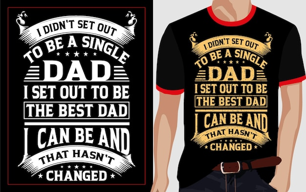 Einzelne beste papa typografie t-shirt design