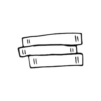Einzelne handgezeichnete buch-doodle-vektor-illustration im süßen skandinavischen stil