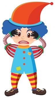 Einzelner charakter des clowns