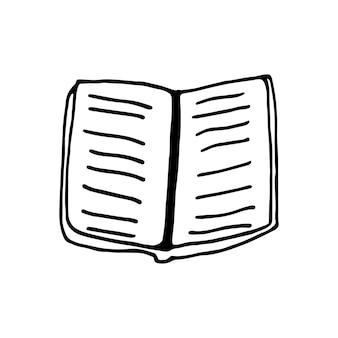 Einzelnes element des buches im doodle-business-set. handgezeichnete vektorgrafik für karten, poster, aufkleber und professionelles design.