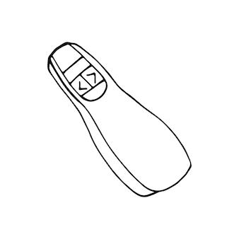 Einzelnes element des clickers im doodle-business-set. handgezeichnete vektorgrafik für karten, poster, aufkleber und professionelles design.
