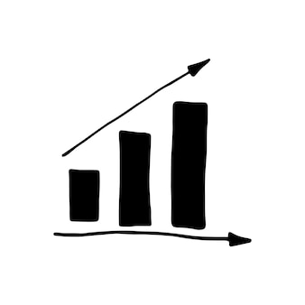 Einzelnes element des diagramms im doodle-business-set. handgezeichnete vektorgrafik für karten, poster, aufkleber und professionelles design.