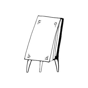 Einzelnes element des flipcharts im doodle-business-set. handgezeichnete vektorgrafik für karten, poster, aufkleber und professionelles design.