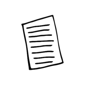 Einzelnes element des notebooks im doodle-business-set. handgezeichnete vektorgrafik für karten, poster, aufkleber und professionelles design.