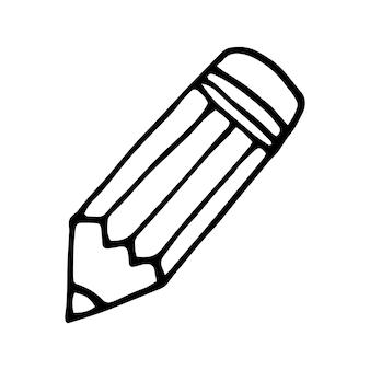 Einzelnes element des stiftes im doodle-business-set. handgezeichnete vektorgrafik für karten, poster, aufkleber und professionelles design.