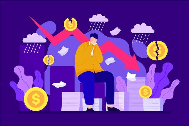 Einzelpersonen in einer finanzkrise