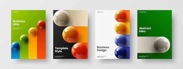 Einzigartige broschürenvektor-designvorlagenzusammensetzung