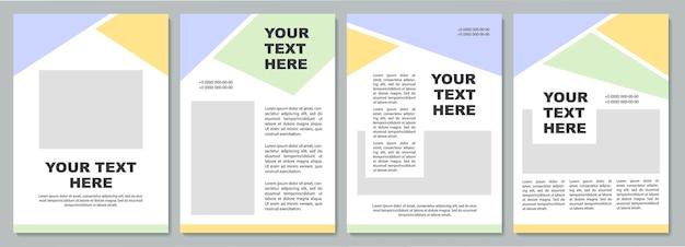 Einzigartige broschürenvorlage für die unternehmensstrategie. flyer, broschüre, broschürendruck, cover-design mit kopierraum. dein text hier. vektorlayouts für zeitschriften, geschäftsberichte, werbeplakate