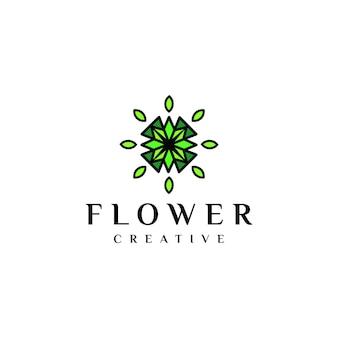 Einzigartige logo blumen