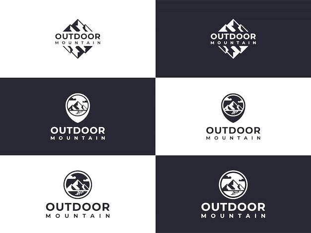 Einzigartige logo set mount peak kollektion