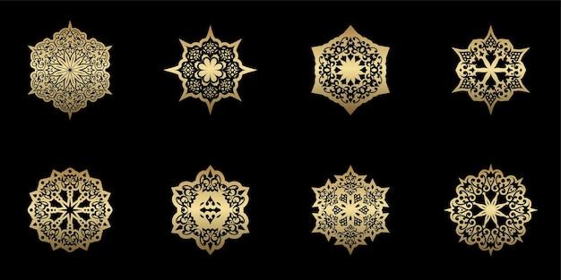 Einzigartige mandala-dekoration im ethno-stil