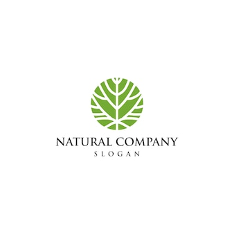 Einzigartige ökologie-logo-vorlage