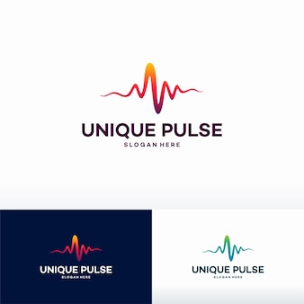 Einzigartige puls-logo-vorlage entwirft vektorillustration, herzschlag-logosymbol