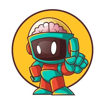Einzigartige roboter-cartoon-figur