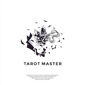 Einzigartige tarot-logo-vorlage