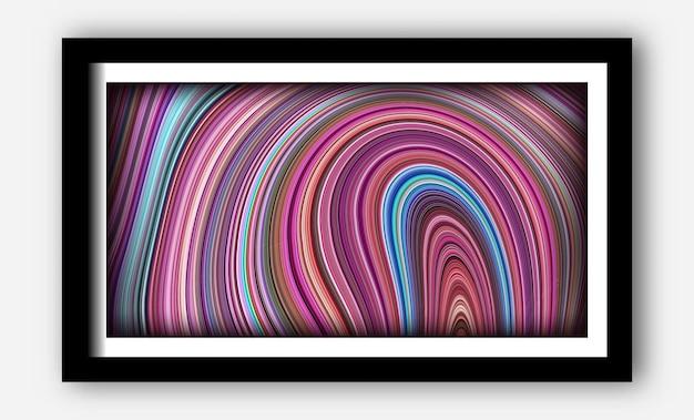 Einzigartige texturen mit fließendem und reflektierendem hintergrund für poster