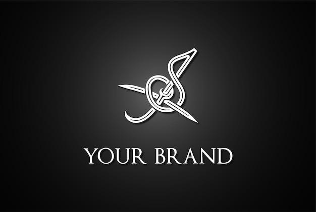 Einzigartiger einfacher js sj logo-design-vektor