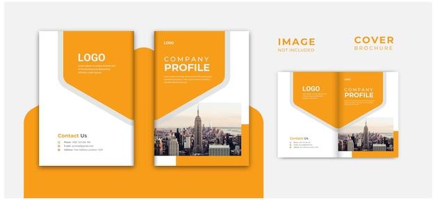 Einzigartiges cover- oder booklet-design sauberes firmenprofil minimale broschüre
