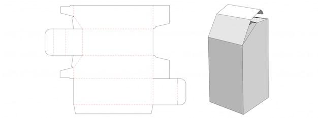 Einzigartiges design der gestanzten schachtelschablone