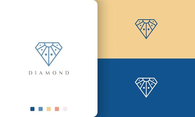 Einzigartiges diamantlogo im einfachen und modernen stil
