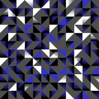 Einzigartiges dreieckiges nahtloses muster dunkelblaues schwarzweiss
