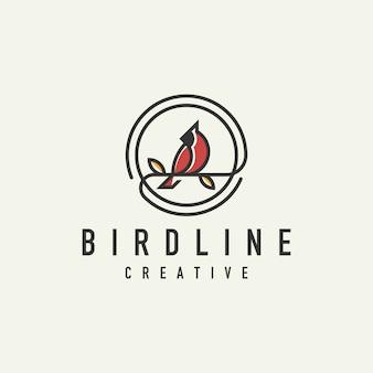 Einzigartiges rotes kardinal-logo