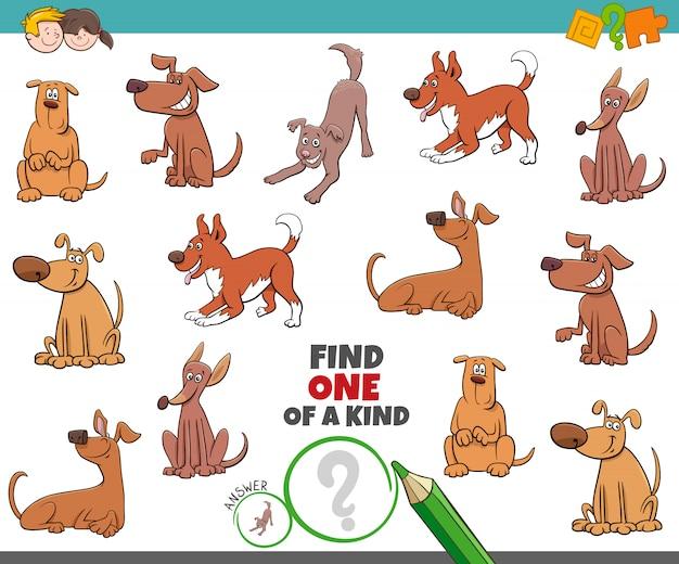 Einzigartiges spiel für kinder mit hunden