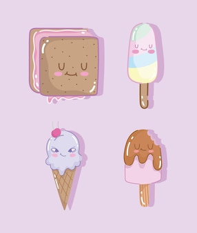 Eis süßes set