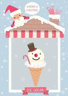 Eis-weihnachtsplakat