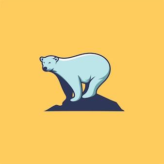 Eisbär, cartoon-stil