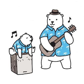 Eisbär-gitarrenmusik