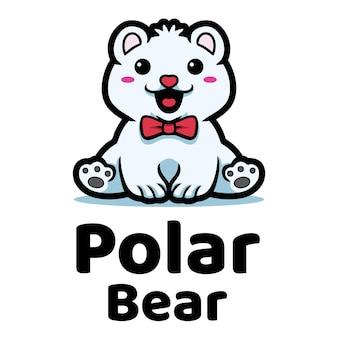 Eisbär maskottchen logo