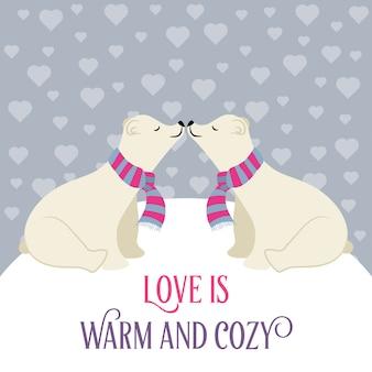 Eisbären in liebe