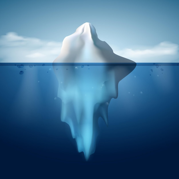 Eisberg-auf-wasser-konzept