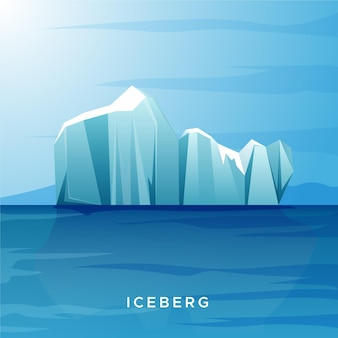 Eisberg-illustrationskonzept