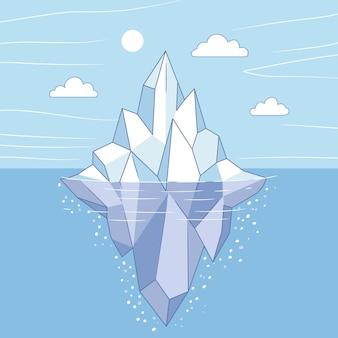 Eisberg-illustrationskonzept