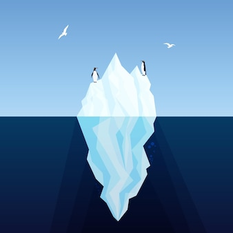 Eisberg illustriert