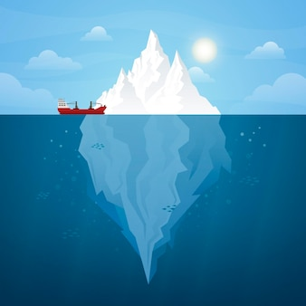 Eisberg illustriertes design