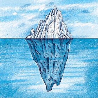 Eisberg-konzept dargestellt