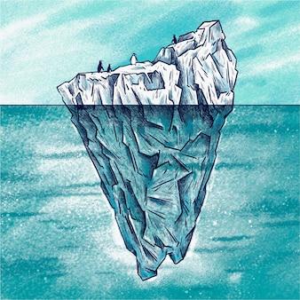 Eisberg-konzeptillustration