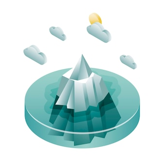Eisberg mit isometrischem design