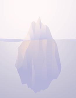 Eisberg natur versenkte illustration