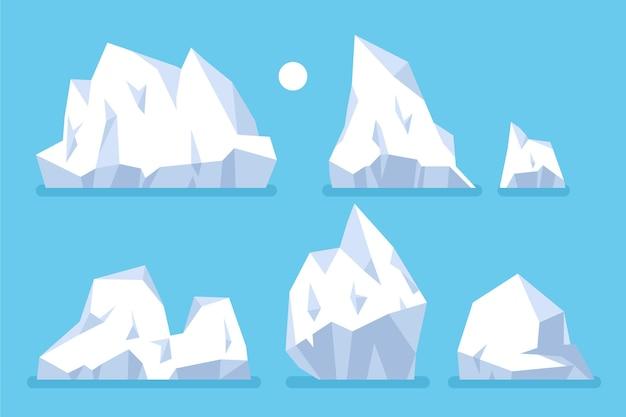 Eisberg sammlung naturkonzept